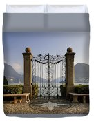 The Gateway To Lago Di Lugano Duvet Cover