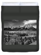 The Grand Tetons And The Snake River Duvet Cover