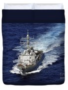 The Guided Missile Destroyer Uss Nitze Duvet Cover