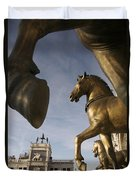 The Horses On The Basilica San Marcos Duvet Cover