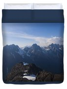 The Jagged Tops Of High Mountain Peaks Duvet Cover