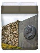 The John F. Kennedy Memorial At Veterans Memorial Park In Hyanni Duvet Cover
