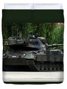 The Leopard 1a5 Mbt Of The Belgian Army Duvet Cover