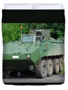 The Piranha IIic Of The Belgian Army Duvet Cover