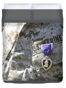 The Purple Heart Award Hangs Duvet Cover