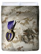 The Purple Heart Award Duvet Cover by Stocktrek Images
