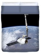 The Spacex Dragon Cargo Craft Duvet Cover
