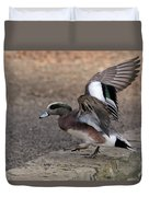 American Wigeon Waterfowl Duvet Cover