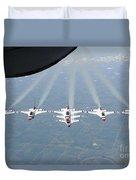 The U.s. Air Force Thunderbird Duvet Cover