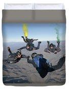 The U.s. Navy Parachute Demonstration Duvet Cover