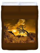 The Weight Of The Clouds In Sepia Duvet Cover
