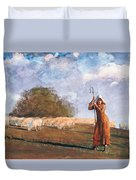 The Young Shepherdess Duvet Cover