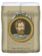 Theophrastus, Ancient Greek Polymath Duvet Cover by Science Source