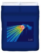 Thermogram Of A Shower Head Duvet Cover by Ted Kinsman