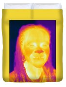 Thermogram Of A Woman Duvet Cover