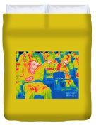 Thermogram Of Students In A Lecture Duvet Cover
