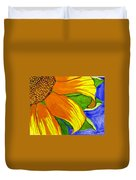 This Is No Subdued Sunflower Duvet Cover