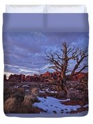 Timed Exposure Of Sunset Clouds Duvet Cover