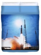 Titan Iv Rocket Duvet Cover