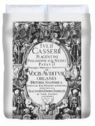 Title Page, Giulio Casserios Anatomy Duvet Cover