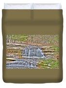 Top Of The Upper Falls Duvet Cover