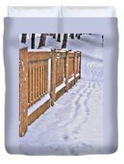 Tracks In The Snow Duvet Cover