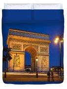 Twilight At Arc De Triomphe Duvet Cover