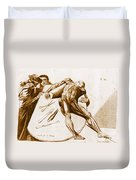 Two Gentlemen Contemplating A Cadaver Duvet Cover by Science Source