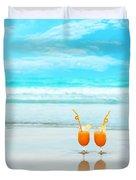 Two Glasses Of Orange Juice Duvet Cover