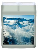 Upper Level Of Fox Glacier In New Zealand Duvet Cover