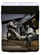 U.s. Air Force Crew Strapped Duvet Cover