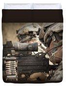 U.s. Army Rangers In Afghanistan Combat Duvet Cover