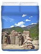 U.s. Army Soldier And An Afghan Duvet Cover