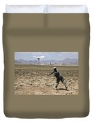 U.s. Army Soldier Launches An Rq-11 Duvet Cover