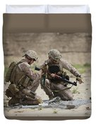 U.s. Marines Prepare A Fragmentation Duvet Cover