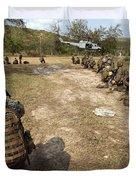 U.s. Marines Provide Security Duvet Cover
