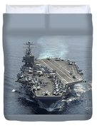 Uss Abraham Lincoln Transits The Indian Duvet Cover