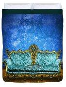 Victorian Sofa In Retro Room Duvet Cover