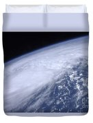 View From Space Of Hurricane Irene Duvet Cover
