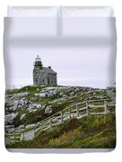 View Of Lighthouse, Rose Blanche Duvet Cover