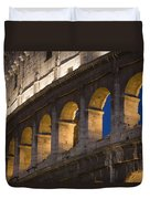 View Of The Roman Coliseum In Rome Duvet Cover