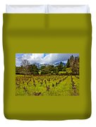Vineyards And Mt St. Helena Duvet Cover