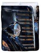 Vintage Car Grill Duvet Cover