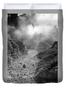 Volcanic Steam Duvet Cover