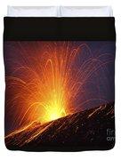 Vulcanian Eruption Of Anak Krakatau Duvet Cover