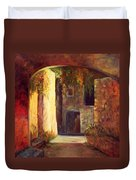 Walled Village Duvet Cover