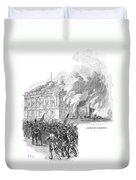 Washington Burning, 1814 Duvet Cover