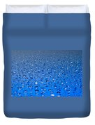 Water Drops On A Shiny Surface Duvet Cover