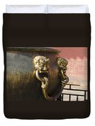 Water Vessel At Forbidden City Duvet Cover