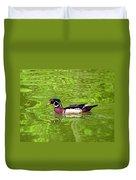 Water Wood Duck Duvet Cover